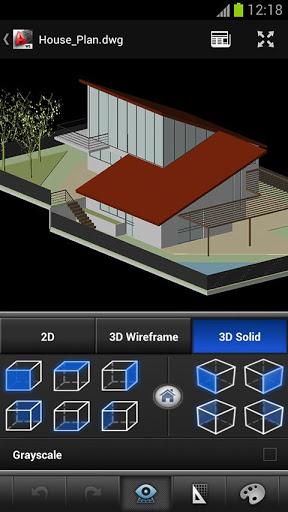 AutoCAD WS xem ban ve 2D 3D CAD android