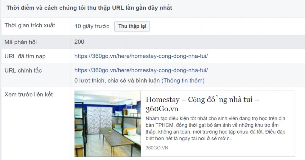 Xóa cache thumbnail link chia sẻ trên Facebook
