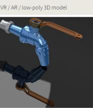 valve nước được vẽ trong phần mềm spaceclaim